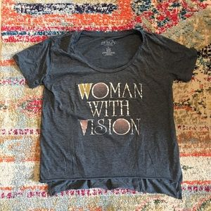 Woman with vision tshirt